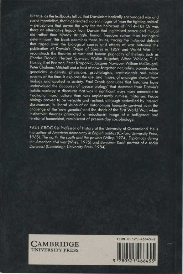 Darwinism: War and History